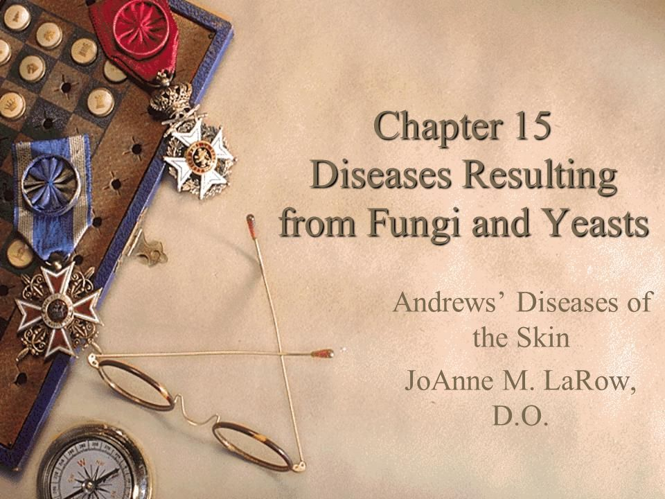 Chapter 15 Diseases Resulting from Fungi and Yeasts Andrews' Diseases of the Skin JoAnne M. LaRow, D.O.
