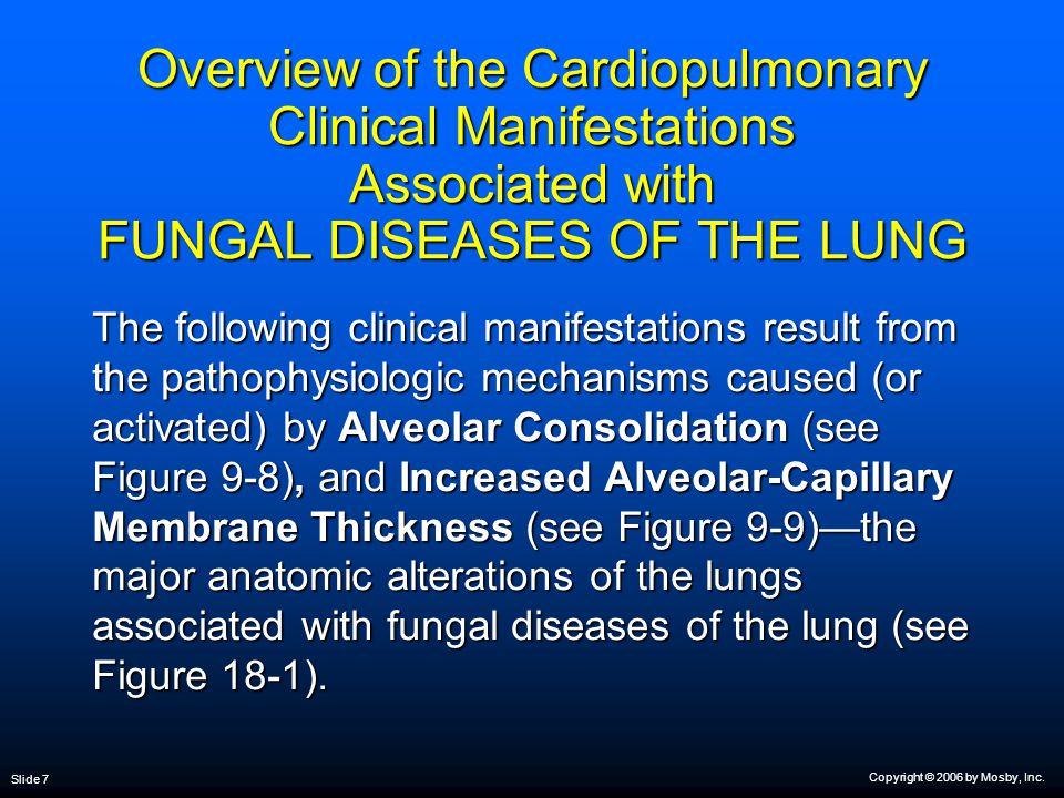 Copyright © 2006 by Mosby, Inc. Slide 8 Figure 9-8. Alveolar consolidation clinical scenario.