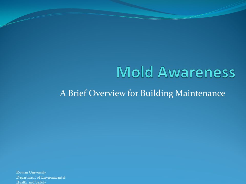 Rowan University Department of Environmental Health and Safety A Brief Overview for Building Maintenance