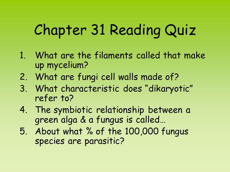 1.List characteristics that distinguish fungi from organisms in other kingdoms.
