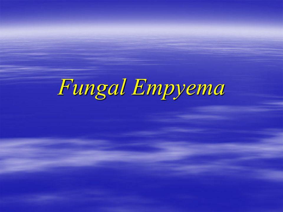 Fungal Empyema