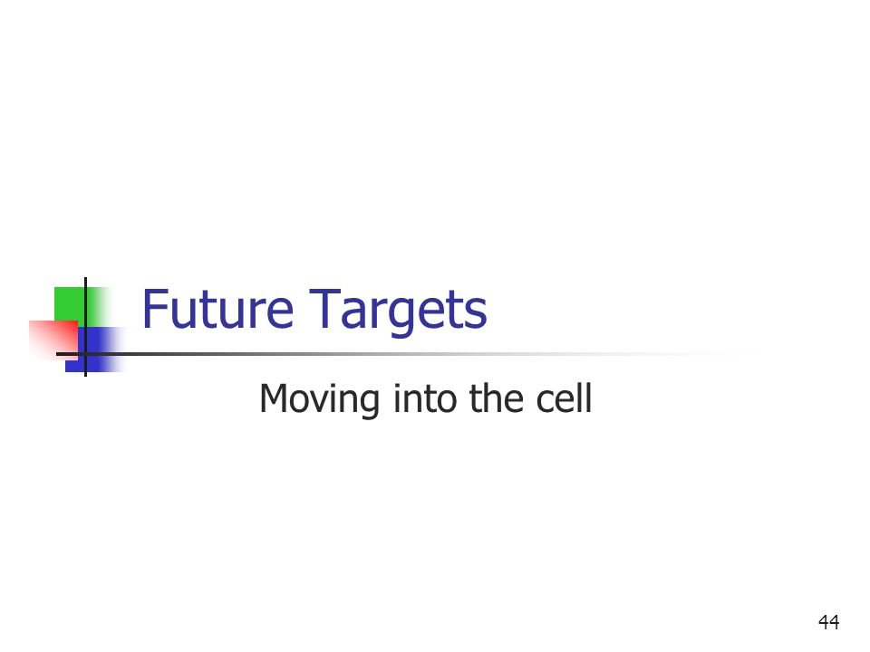 44 Future Targets Moving into the cell