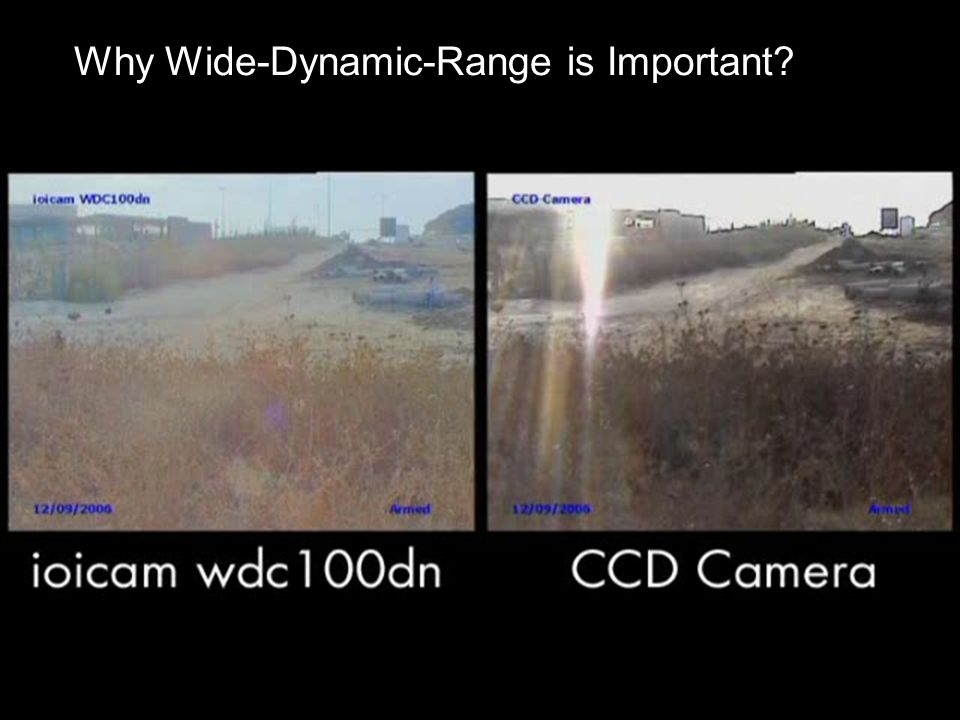 Why Wide-Dynamic-Range is Important