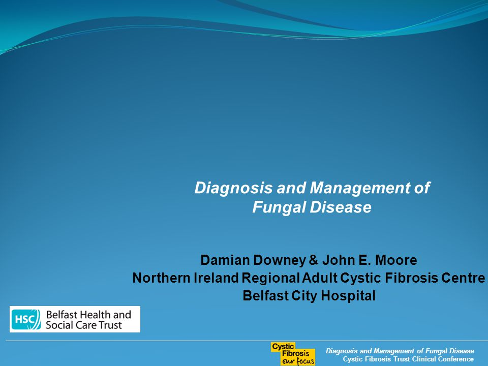 Diagnosis and Management of Fungal Disease Cystic Fibrosis Trust Clinical Conference Damian Downey & John E.