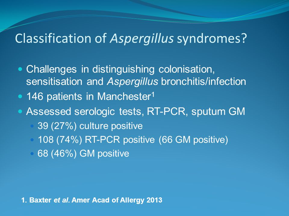Classification of Aspergillus syndromes.