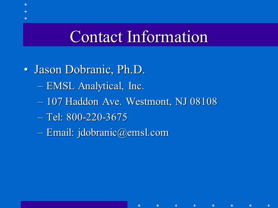 Contact Information Jason Dobranic, Ph.D.Jason Dobranic, Ph.D.