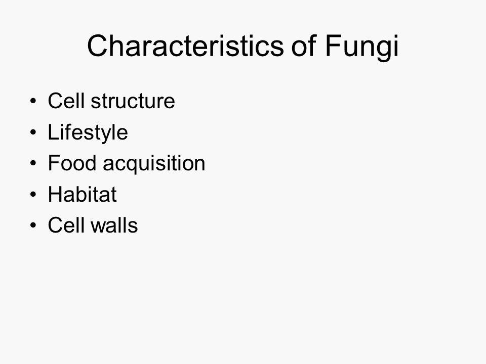 Fungi—plants? Cell wall Mitosis Chlorophyll Dikaryon stage