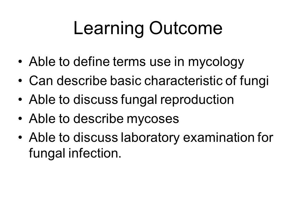 Life Cycle Fungal reproduce by 2 way –Asexual –Sexual Asexual –Hyphae fragmentation –Asexual spores Conidiosphore –Arthroconidia –Blastoconidia sporangiospore