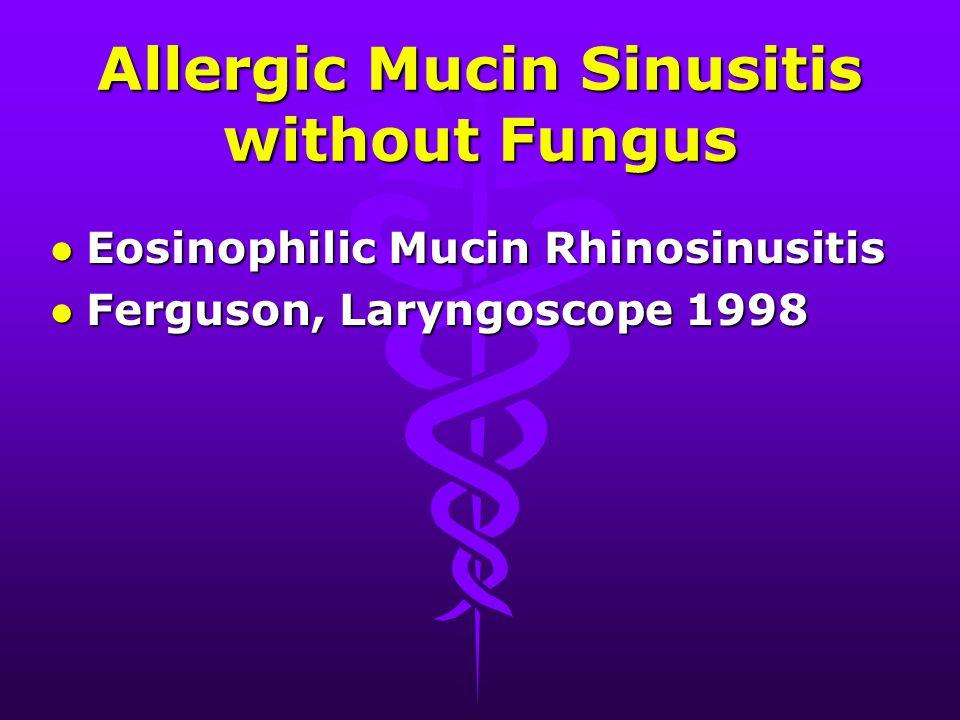 Sammanfattning l Allergisk, infektiös eller båda? l Incidens i Sverige? l Diagnoskriterier? l Hur skall AFS behandlas? l Hur misstänksamma skall vi va