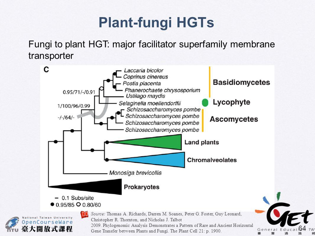 Source: Thomas A. Richards, Darren M. Soanes, Peter G. Foster, Guy Leonard, Christopher R. Thornton, and Nicholas J. Talbot 2009. Phylogenomic Analysi