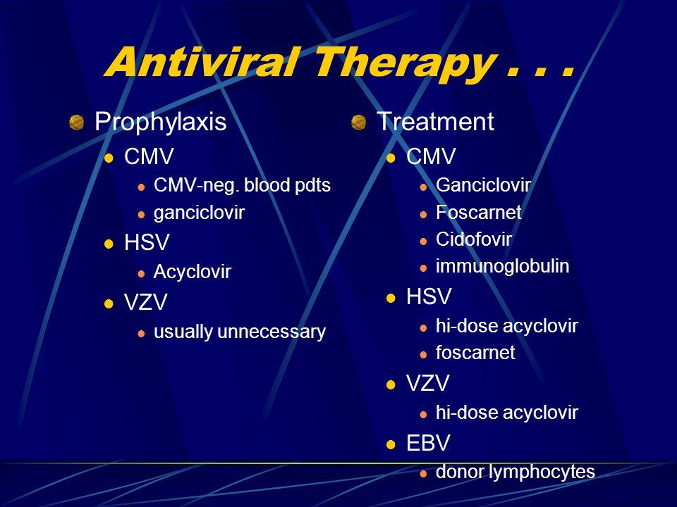 Antiviral Therapy... Prophylaxis CMV CMV-neg.