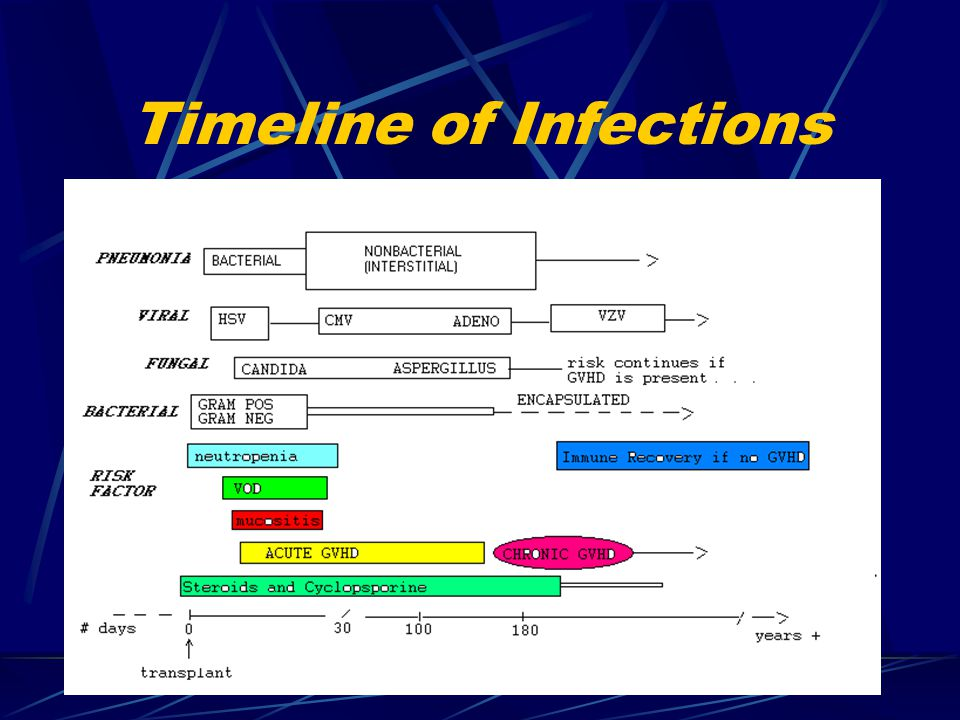 Timeline of Infections