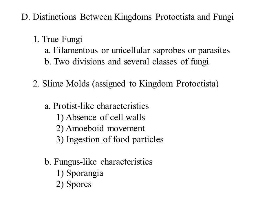 II.Kingdom Fungi - The True Fungi A. Division Zygomycota—The Coenocytic True Fungi 1.
