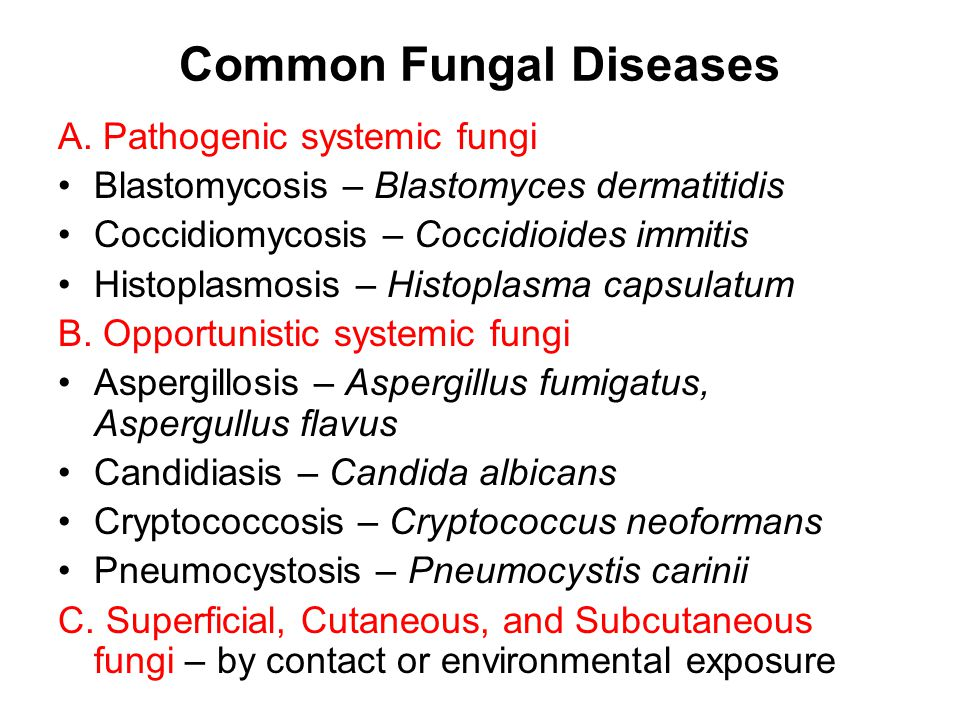 Common Fungal Diseases A.