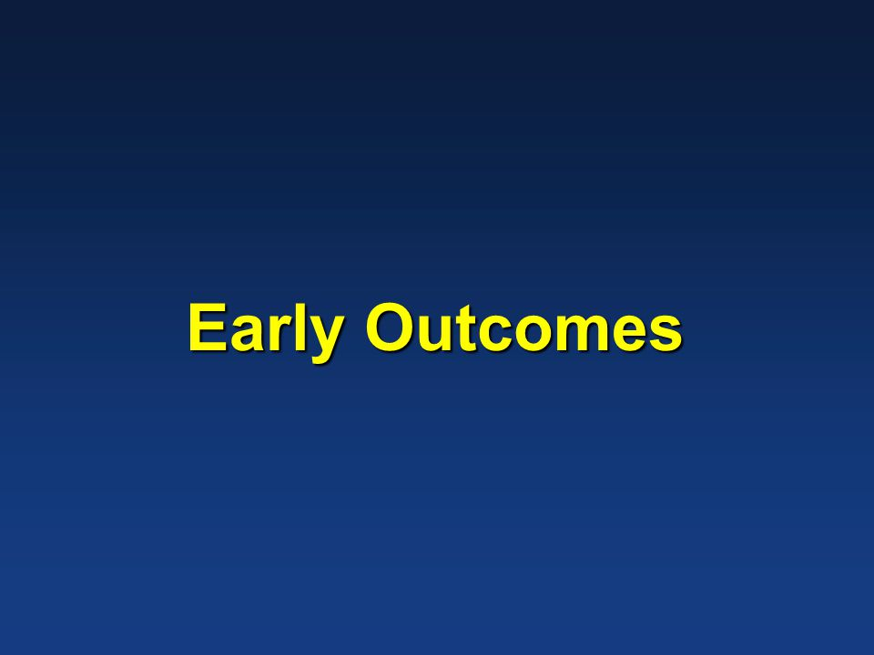 Early Outcomes