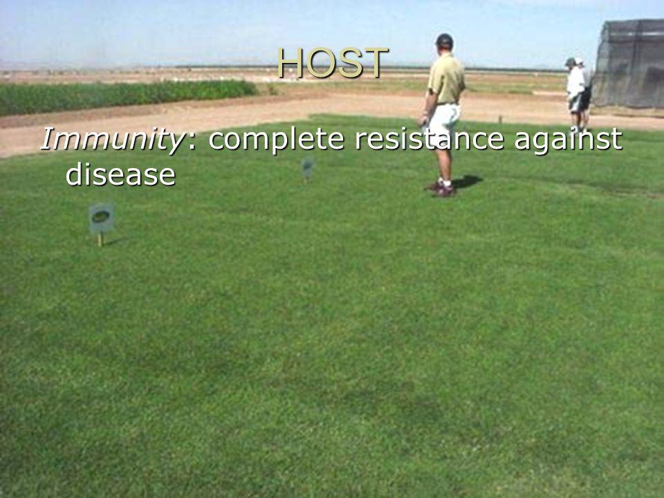 HOST Immunity: complete resistance against disease