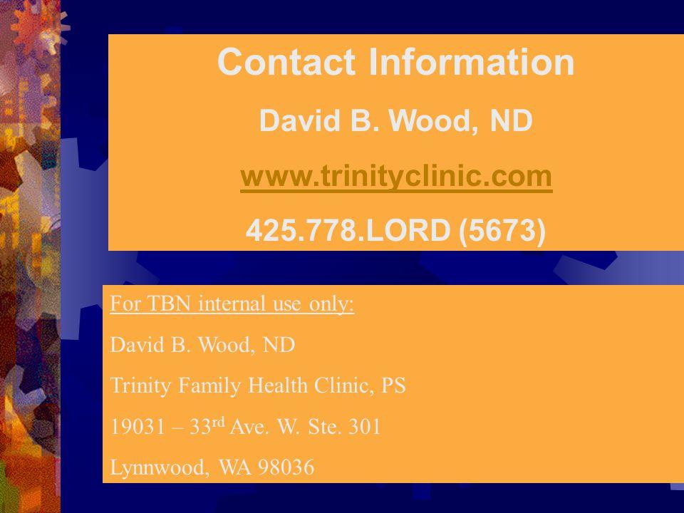 Contact Information David B.