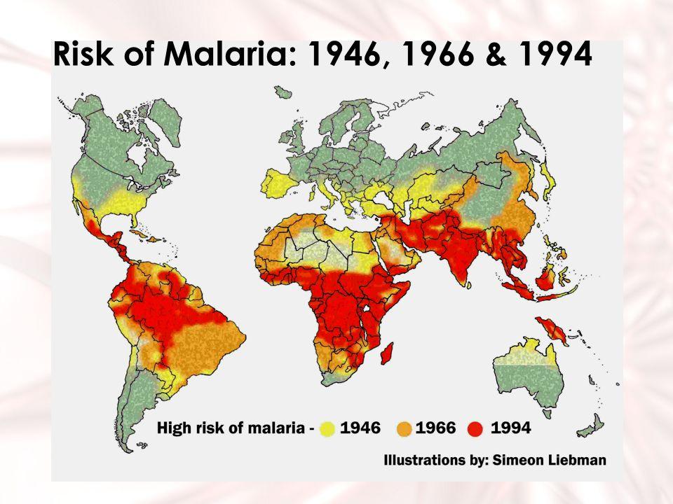 Risk of Malaria: 1946, 1966 & 1994