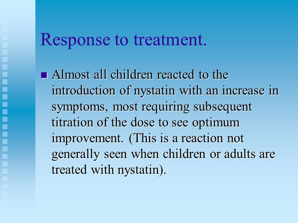 Response to treatment.