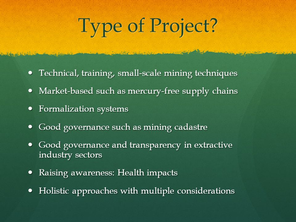 Type of Project.