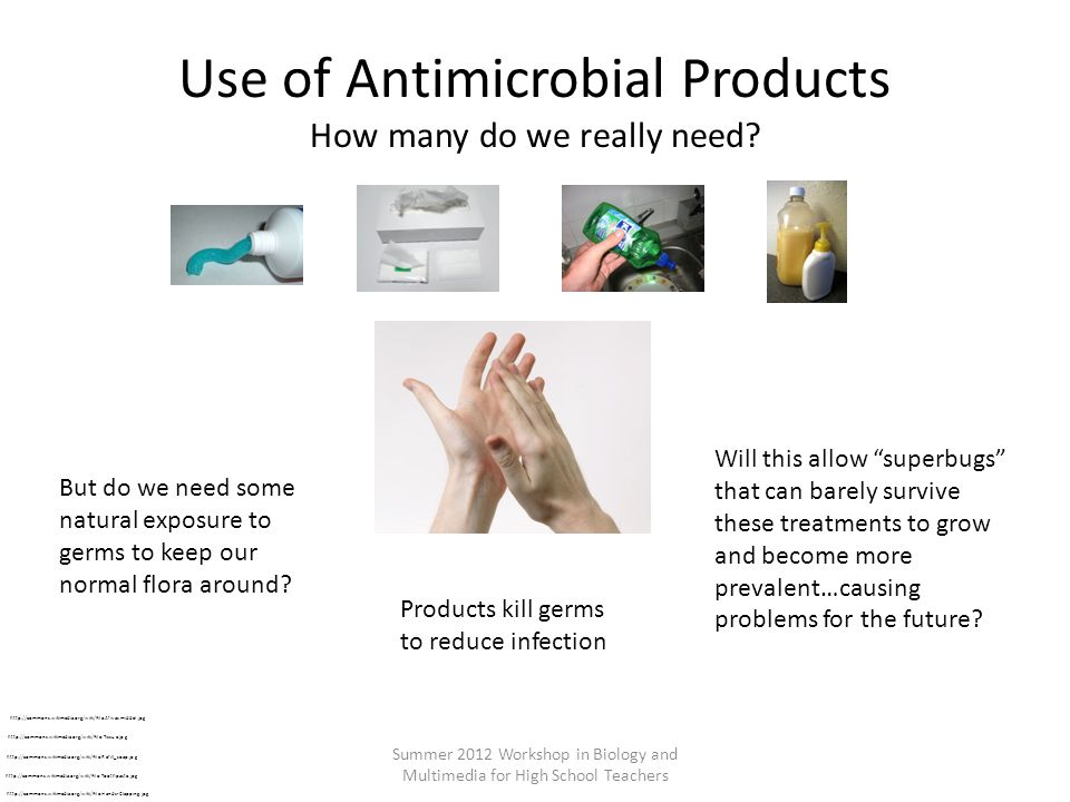 Use of Antimicrobial Products How many do we really need.