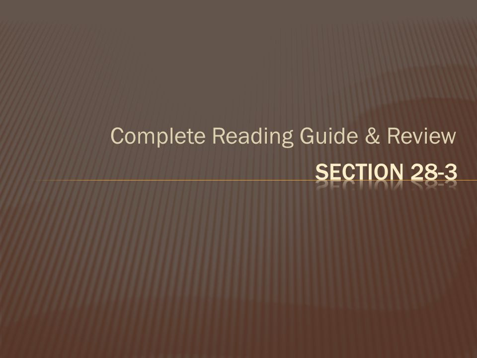 Complete Reading Guide & Review