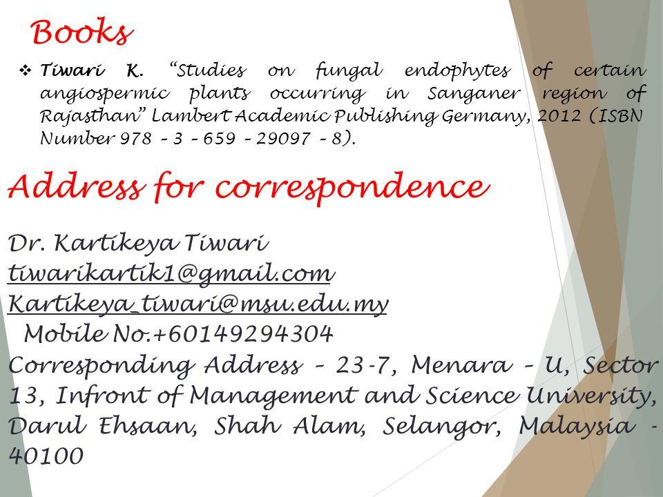 Books  Tiwari K.