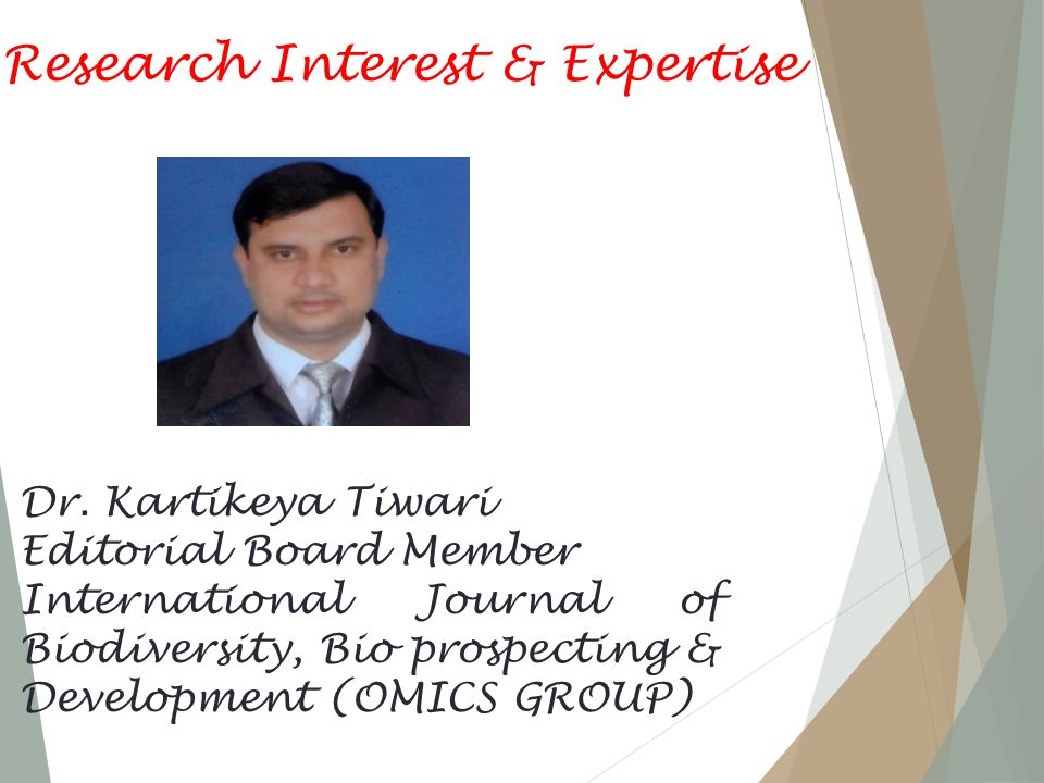 Research Interest & Expertise Dr.