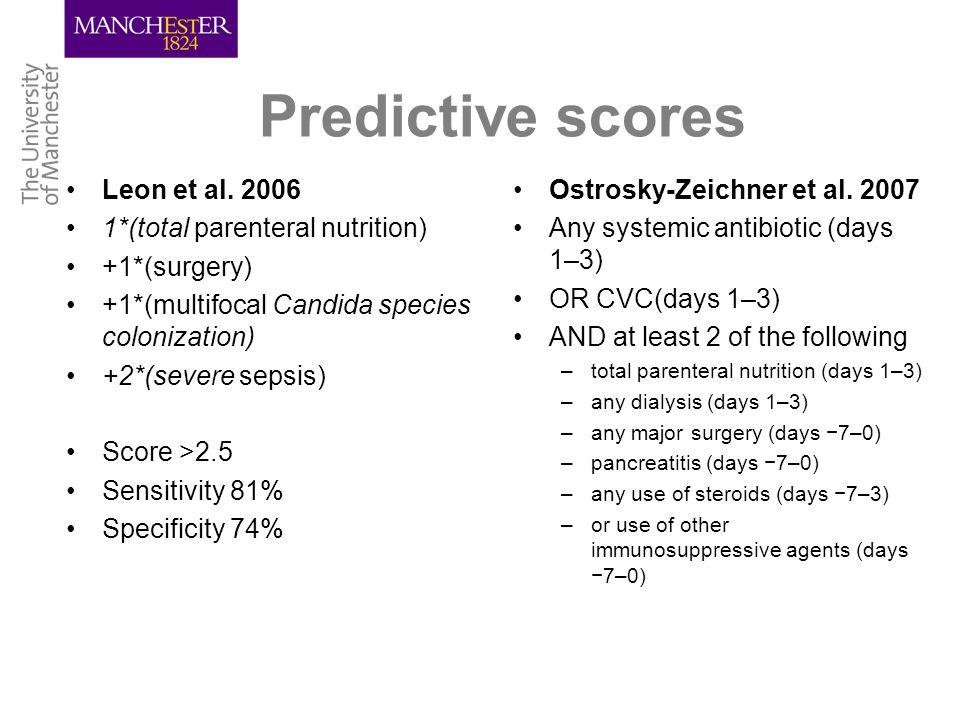 Predictive scores Leon et al.