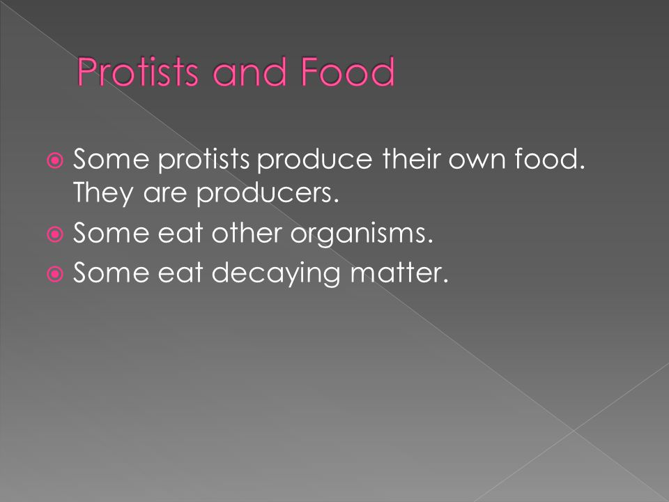  The protists that must get their food from their environment are heterotrophs.