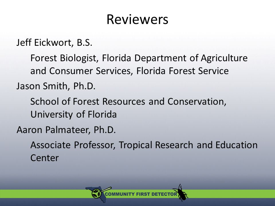 Reviewers Jeff Eickwort, B.S.