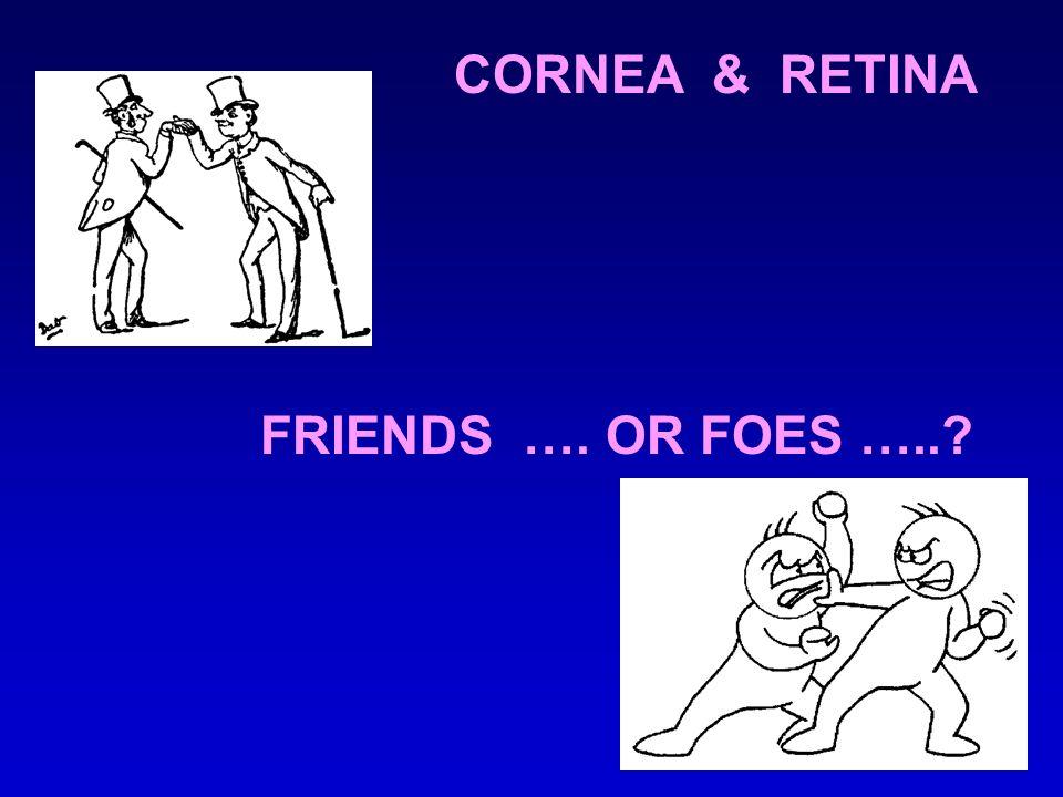 FRIENDS …. OR FOES …..? CORNEA & RETINA