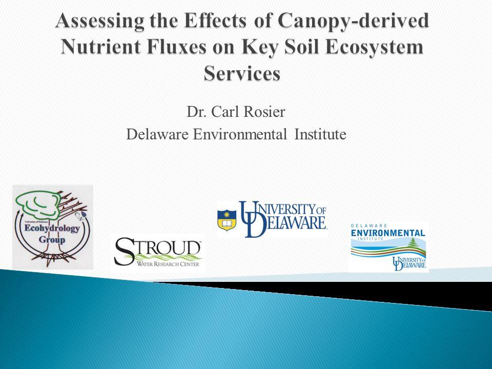 Dr. Carl Rosier Delaware Environmental Institute