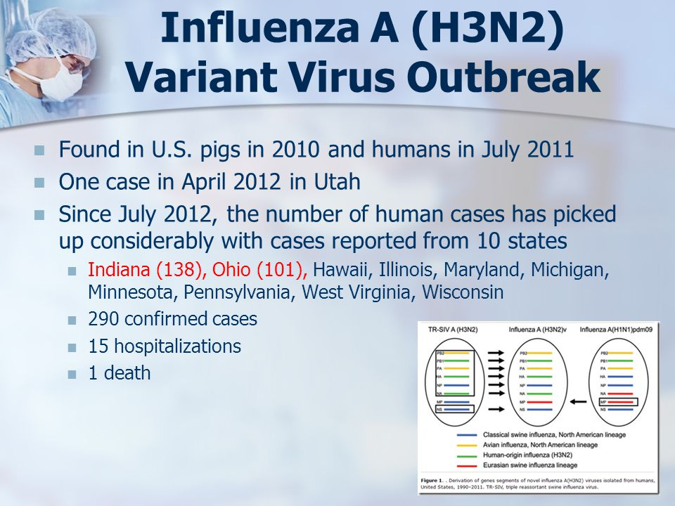 Influenza A (H3N2) Variant Virus Outbreak Found in U.S.