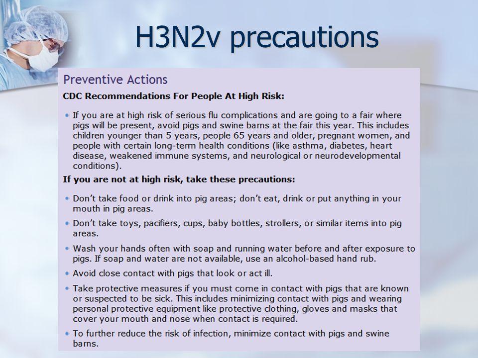 H3N2v precautions