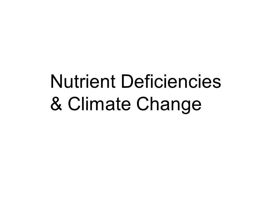 Nutrient Deficiencies & Climate Change
