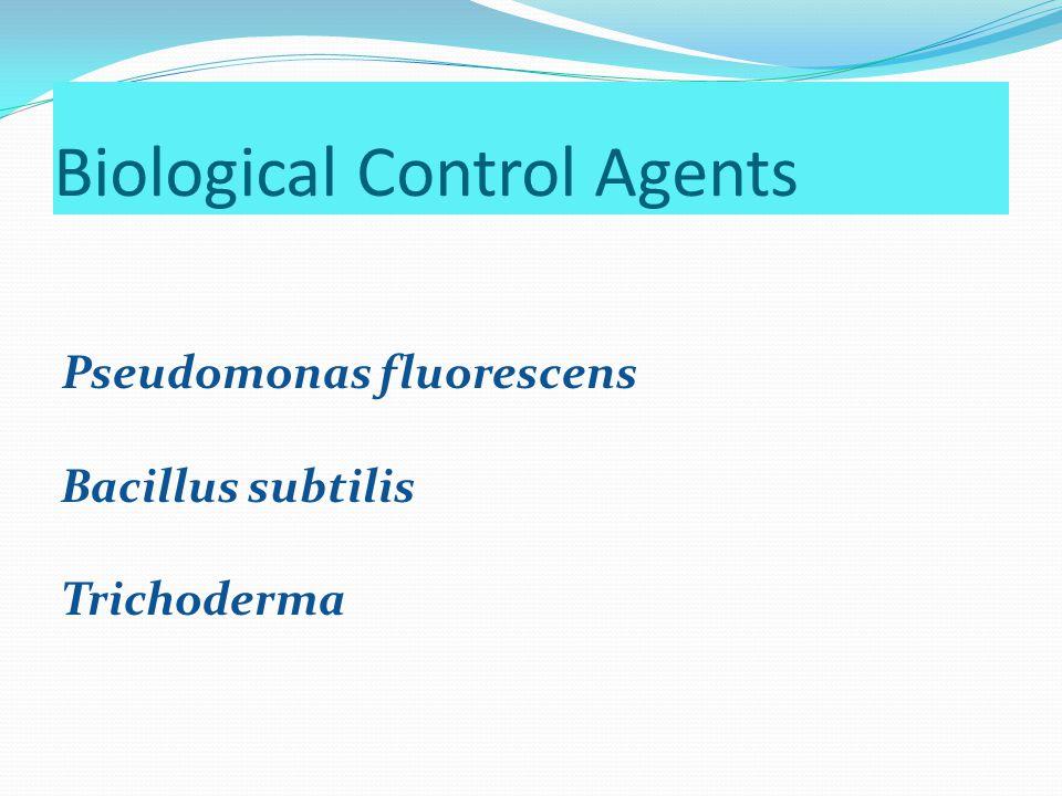 Biological Control Agents Pseudomonas fluorescens Bacillus subtilis Trichoderma
