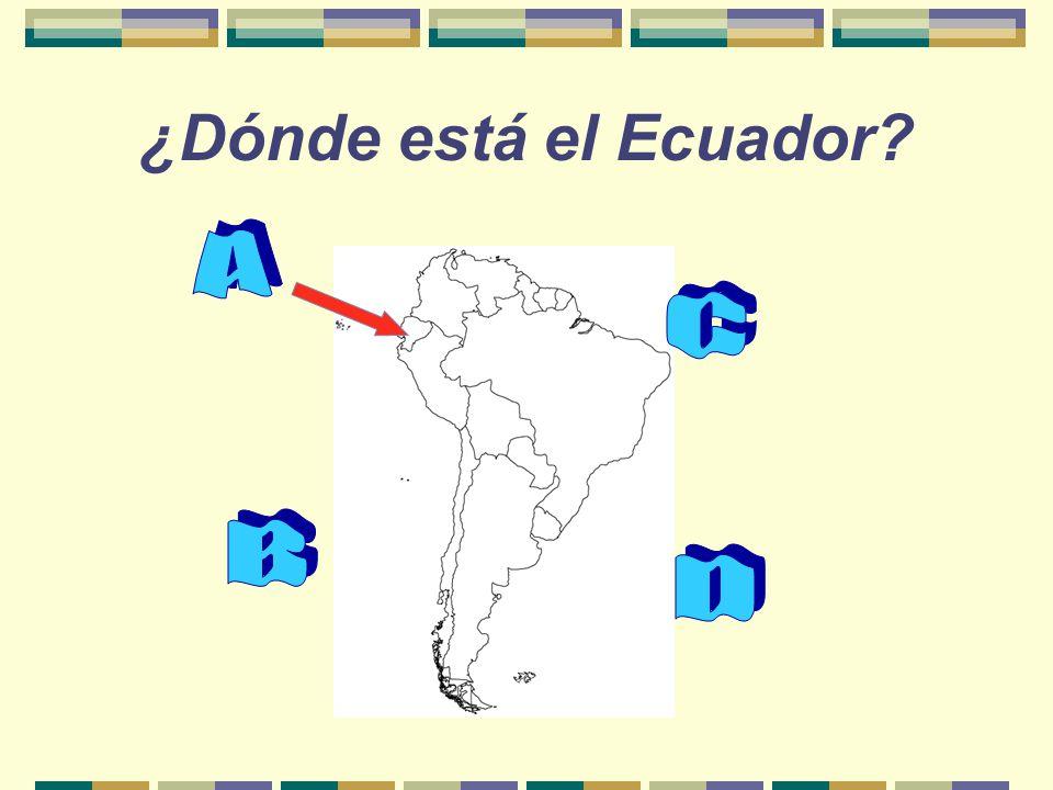 ¿Dónde está el Ecuador