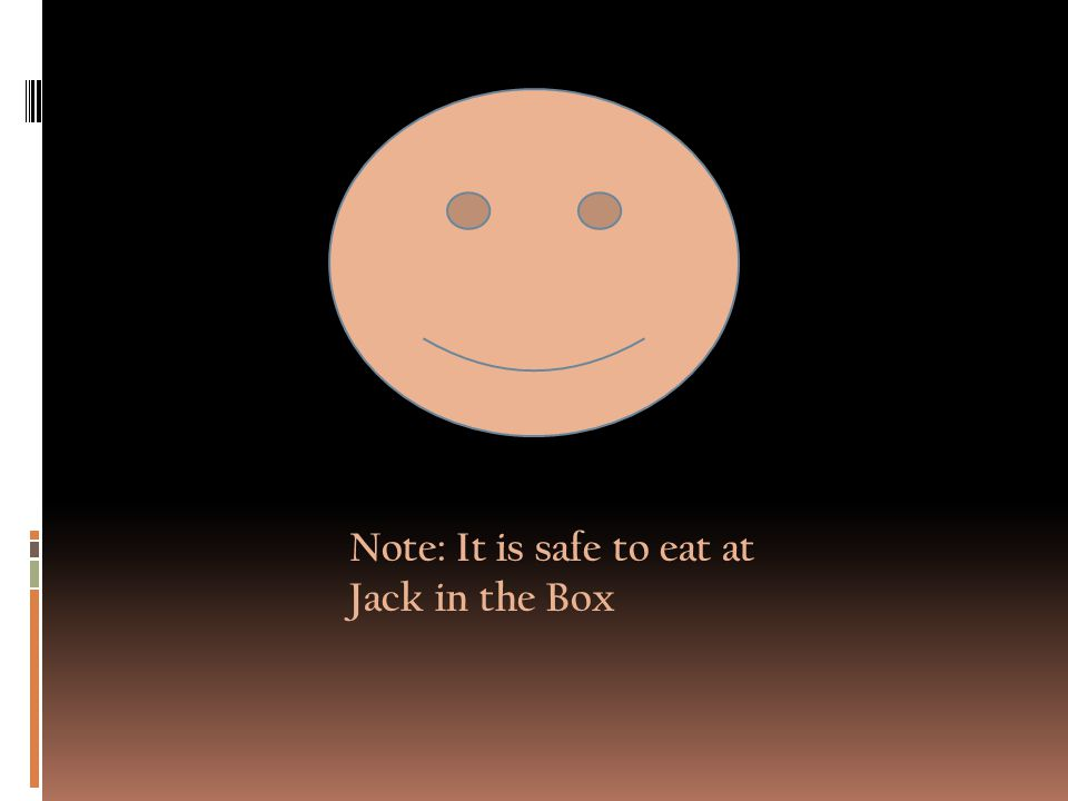 Note: It is safe to eat at Jack in the Box