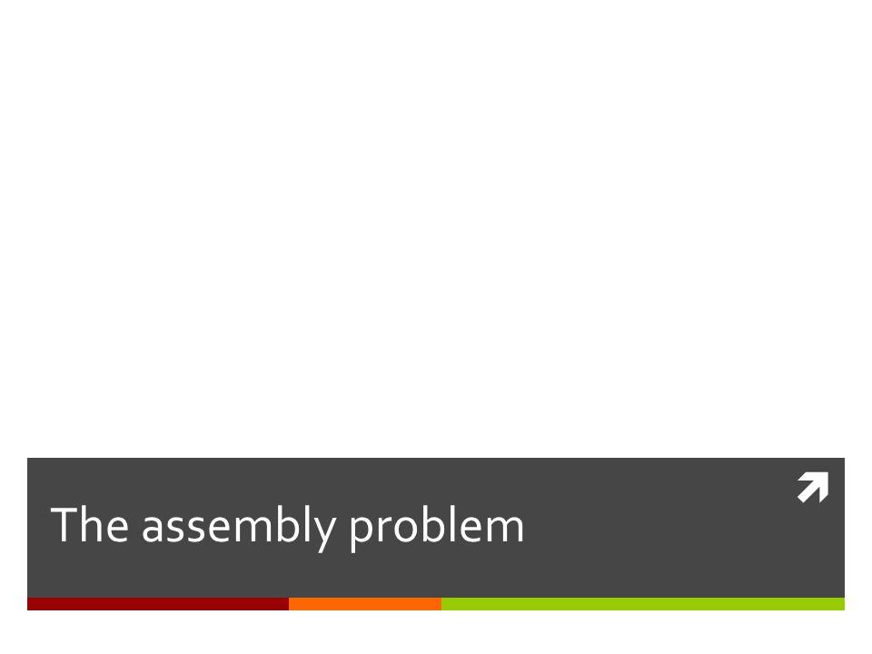  The assembly problem