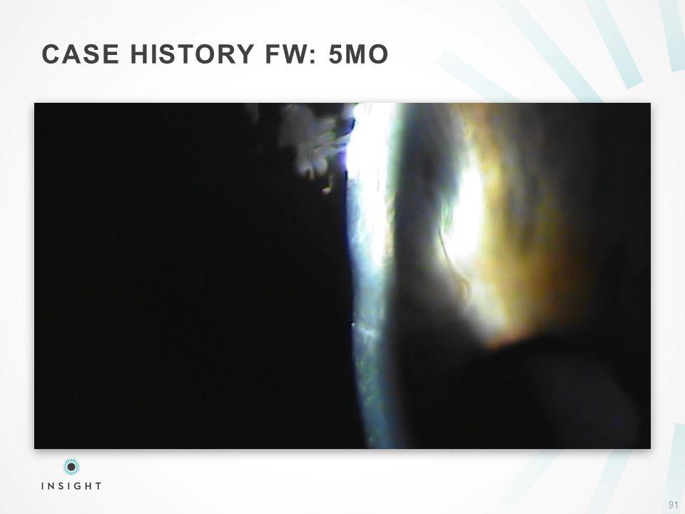 CASE HISTORY FW: 5MO 91