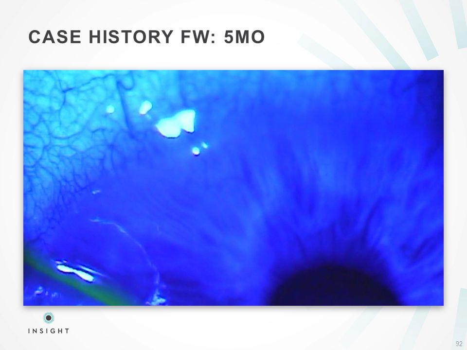 CASE HISTORY FW: 5MO 92