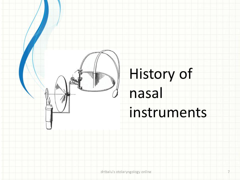 History of nasal instruments drtbalu's otolaryngology online7