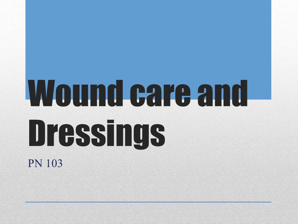 Dressings- Thin- -little/no drainage -protection -transparent (Opsite) -hydrocolloids (Duoderm, Gentleheel) -foam (Allevyn, Optifoam), -gauze (Telfa