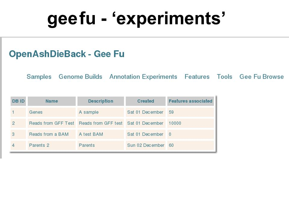 gee fu - 'experiments'
