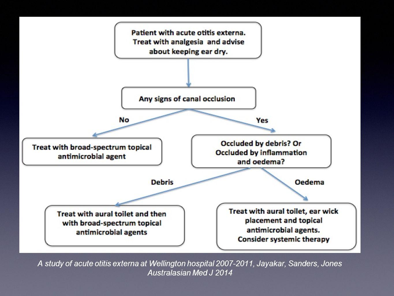 A study of acute otitis externa at Wellington hospital 2007-2011, Jayakar, Sanders, Jones Australasian Med J 2014