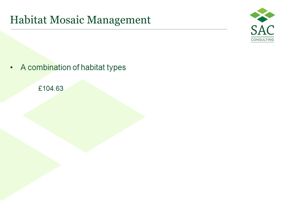 28 Habitat Mosaic Management A combination of habitat types £104.63