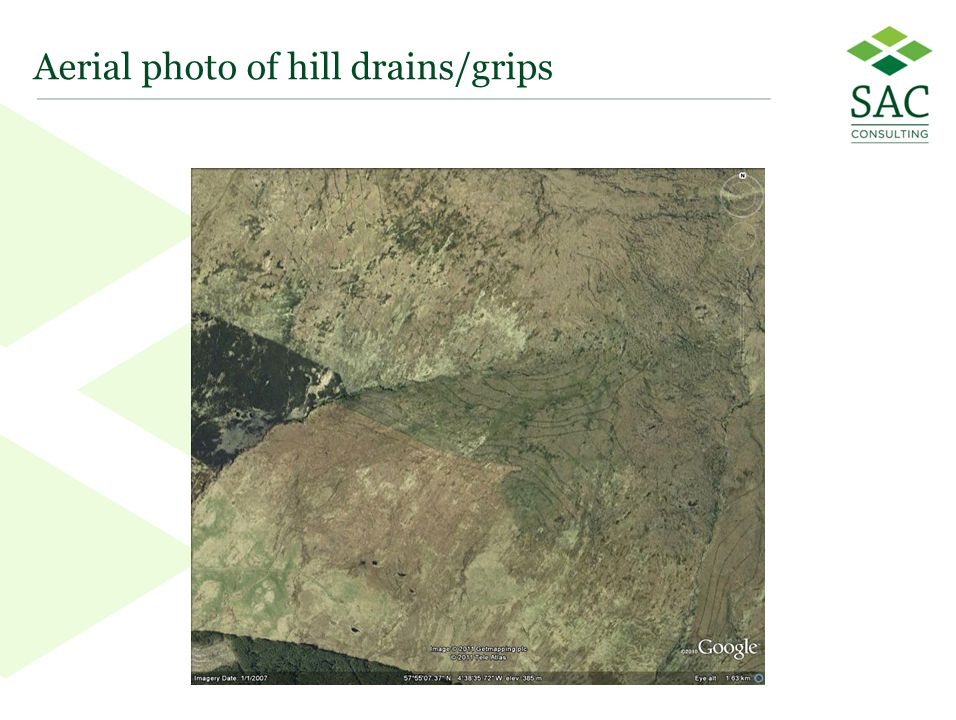 35 Aerial photo of hill drains/grips