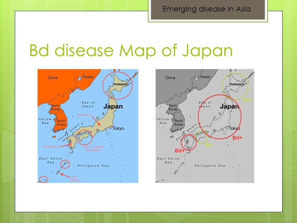Bd disease Map of Japan Emerging disease in Asia