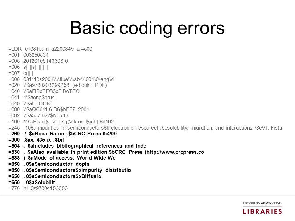 Basic coding errors =LDR 01381cam a2200349 a 4500 =001 006250834 =005 20120105143308.0 =006 a|||||s||||||||||| =007 cr|||| =008 031113s2004\\\\flua\\\\sb\\\\001\0\eng\d =020 \\$a9780203299258 (e-book : PDF) =040 \\$aFlBoTFG$cFlBoTFG =041 1\$aeng$hrus =049 \\$aEBOOK =090 \\$aQC611.6.D6$bF57 2004 =092 \\$a537.622$bF543 =100 1\$aFistul§, V.
